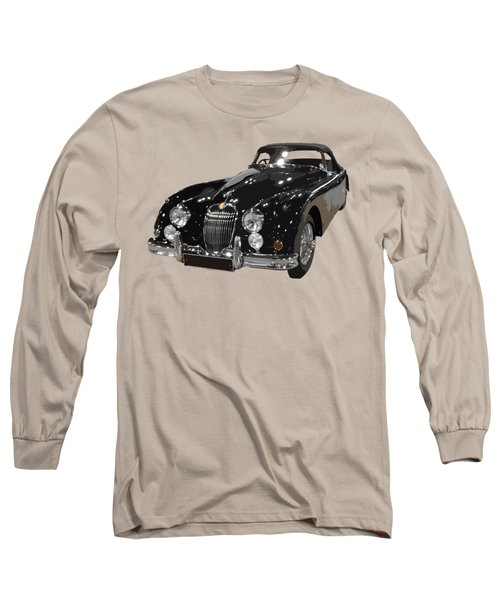 Classic Jaguar In Black Art Long Sleeve T-Shirt