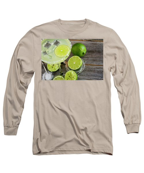Long Sleeve T-Shirt featuring the photograph Classic Lime Margarita by Teri Virbickis