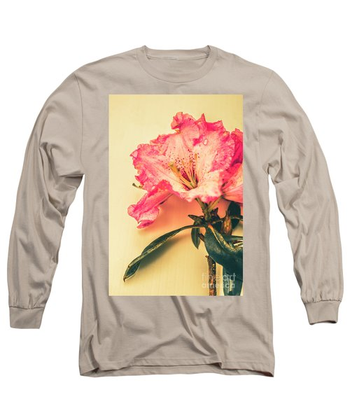 Classical Pastel Flower Clipping Long Sleeve T-Shirt