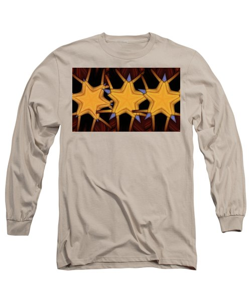 Long Sleeve T-Shirt featuring the digital art Clawed Stars  by Ron Bissett
