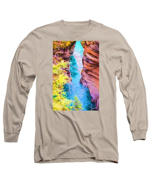 Clear Alpine Water Long Sleeve T-Shirt