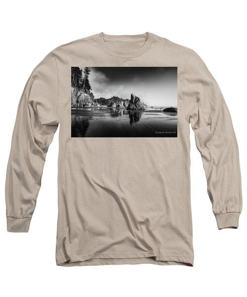 Clear Day At Ruby Beach Long Sleeve T-Shirt