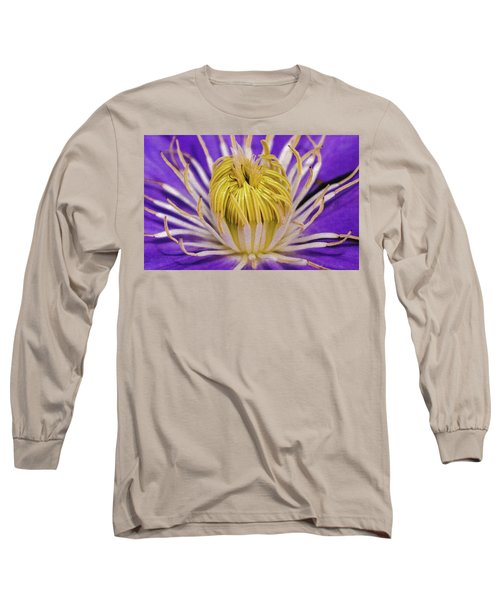 Clematis Macro Long Sleeve T-Shirt
