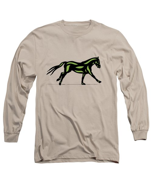 Clementine - Pop Art Horse - Black, Geenery, Hazelnut Long Sleeve T-Shirt