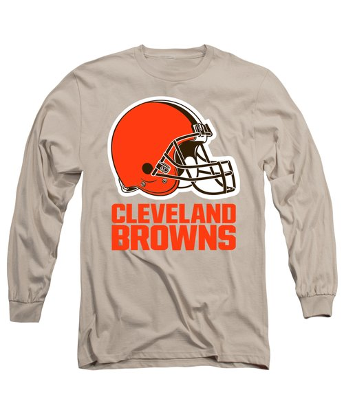 Cleveland Browns On An Abraded Steel Texture Long Sleeve T-Shirt