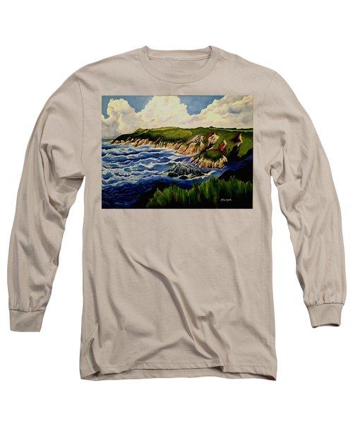 Cliffs And Sea Long Sleeve T-Shirt