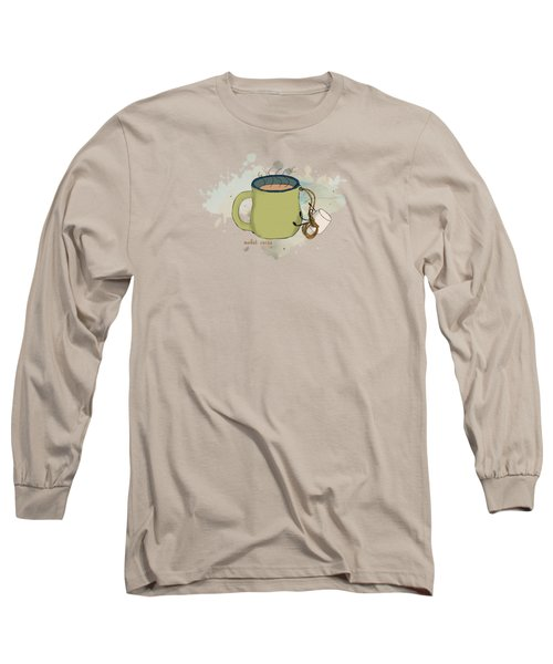 Climbing Mt Cocoa Illustrated Long Sleeve T-Shirt by Heather Applegate