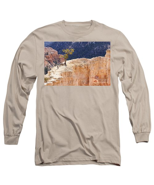 Clinging To The Top Of The Wall Long Sleeve T-Shirt