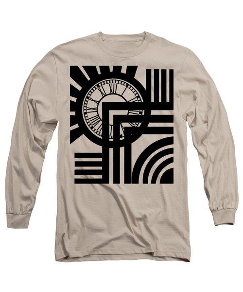 Clock Design Vertical Long Sleeve T-Shirt