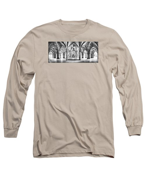 Cloister Black And White Panorama Long Sleeve T-Shirt