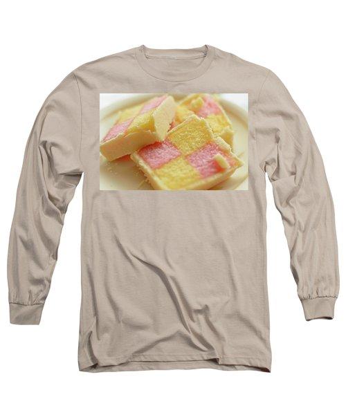 Close Up Of Battenberg Cake E Long Sleeve T-Shirt