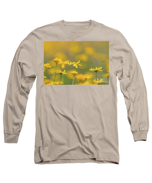 Close Up Of Yellow Flower With Blur Background Long Sleeve T-Shirt