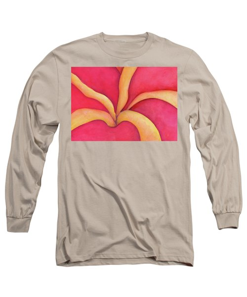 Closeup Of Red Rose Long Sleeve T-Shirt by Versel Reid