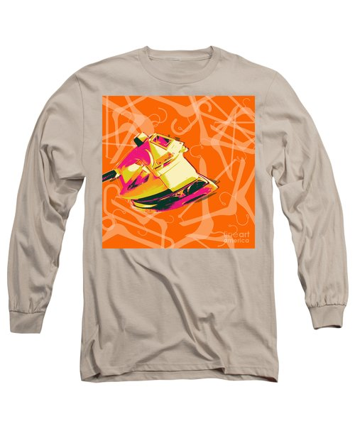 Long Sleeve T-Shirt featuring the digital art Flat Iron  by Jean luc Comperat