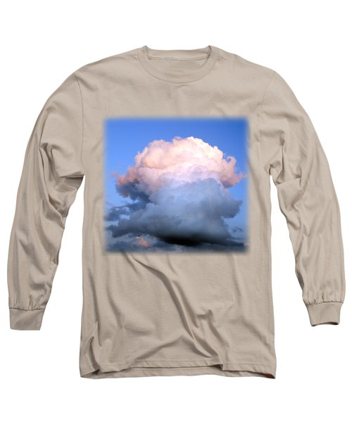 Cloud Explosion T-shirt Long Sleeve T-Shirt by Isam Awad