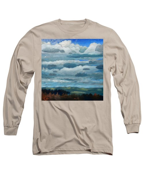 Long Sleeve T-Shirt featuring the painting Clouds Over South Bay by Gary Coleman