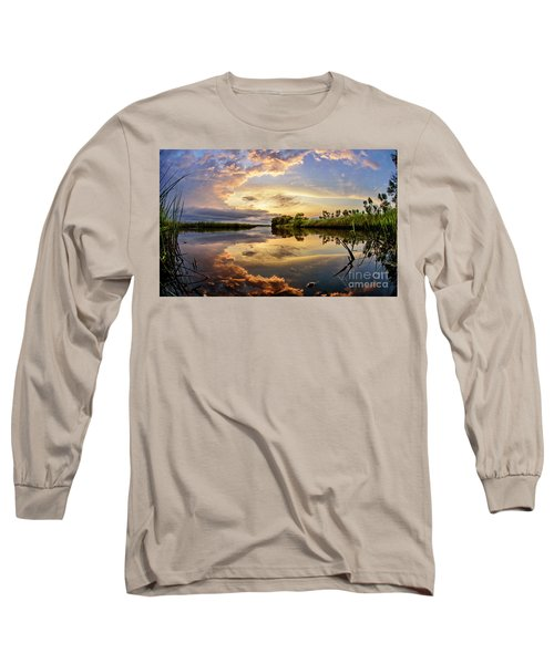 Clouds Reflections Long Sleeve T-Shirt