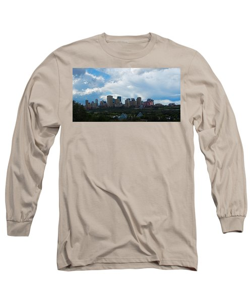 Cloudy Skyline Edmonton Long Sleeve T-Shirt