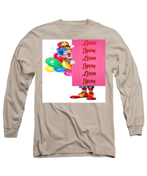 Clown With Love You Poster And Baslloons Long Sleeve T-Shirt