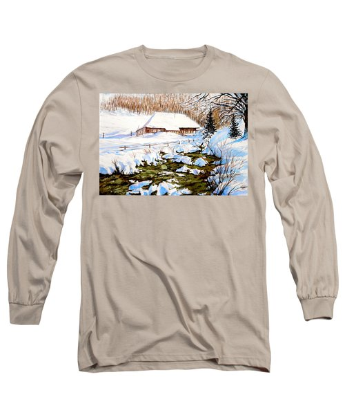 Clubhouse In Winter Long Sleeve T-Shirt by Sher Nasser