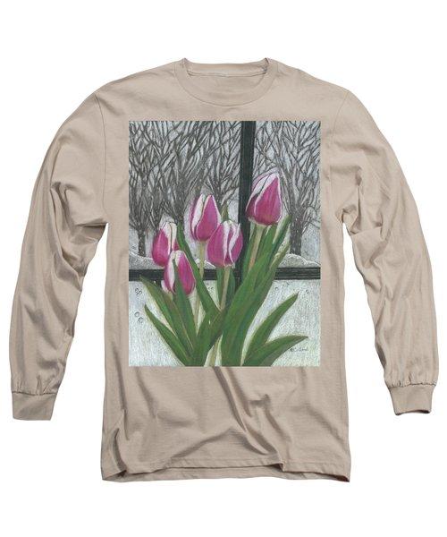 C'mon Spring Long Sleeve T-Shirt by Arlene Crafton