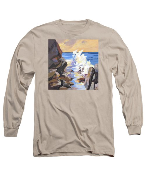 Long Sleeve T-Shirt featuring the painting Coastal Edge by Rae Andrews