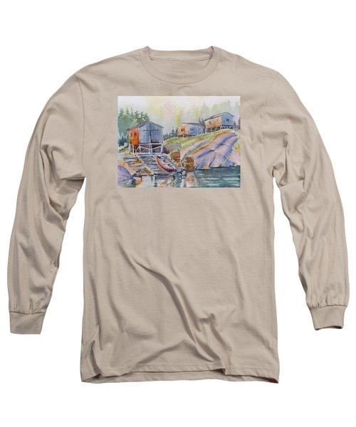 Coastal Village - Newfoundland Long Sleeve T-Shirt