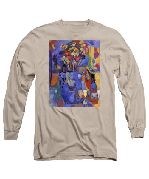 Cobalt Rose Long Sleeve T-Shirt