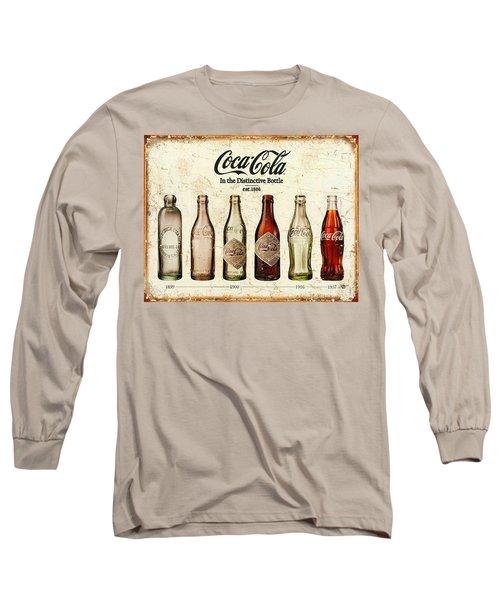 Coca-cola Bottle Evolution Vintage Sign Long Sleeve T-Shirt