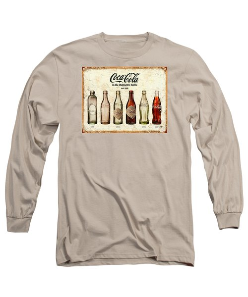 Coca-cola Bottle Evolution Vintage Sign Long Sleeve T-Shirt