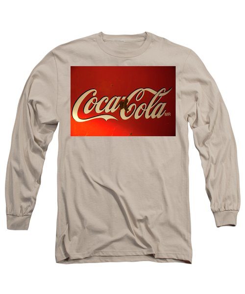 Long Sleeve T-Shirt featuring the photograph Coca-cola Sign  by Toni Hopper