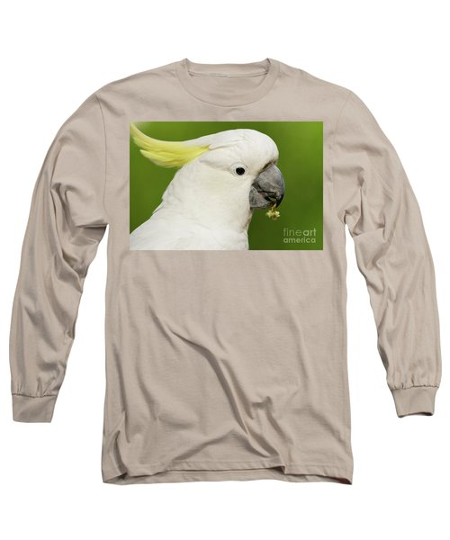 Cockatoo Close Up Long Sleeve T-Shirt by Craig Dingle