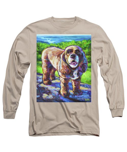 Long Sleeve T-Shirt featuring the painting Cocker Spaniel  by Robert Phelps