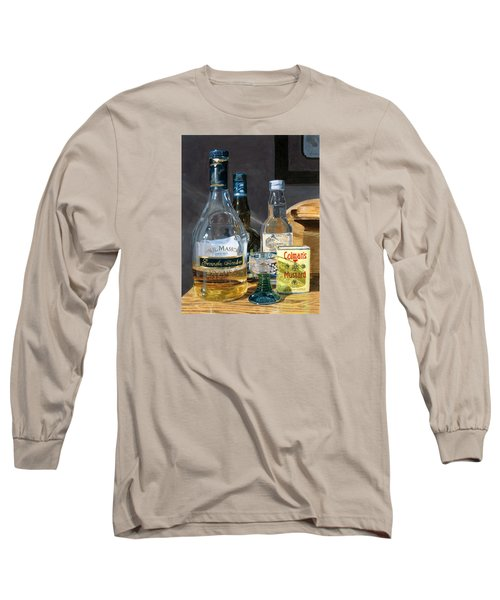 Long Sleeve T-Shirt featuring the painting Cocktails And Mustard by Lynne Reichhart