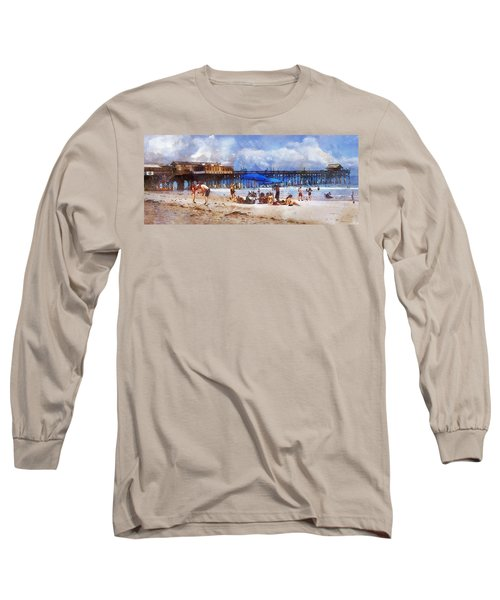 Cocoa Beach Pier Long Sleeve T-Shirt by Francesa Miller