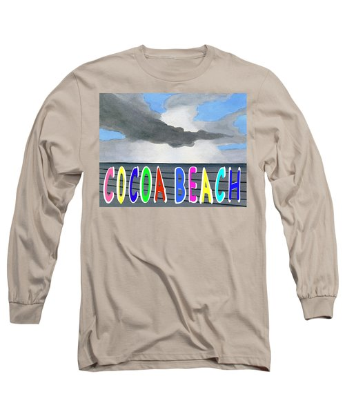 Cocoa Beach Poster T-shirt Long Sleeve T-Shirt by Dick Sauer