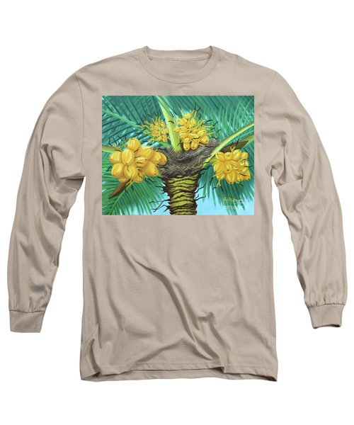 Coconut Palms Long Sleeve T-Shirt by Val Miller