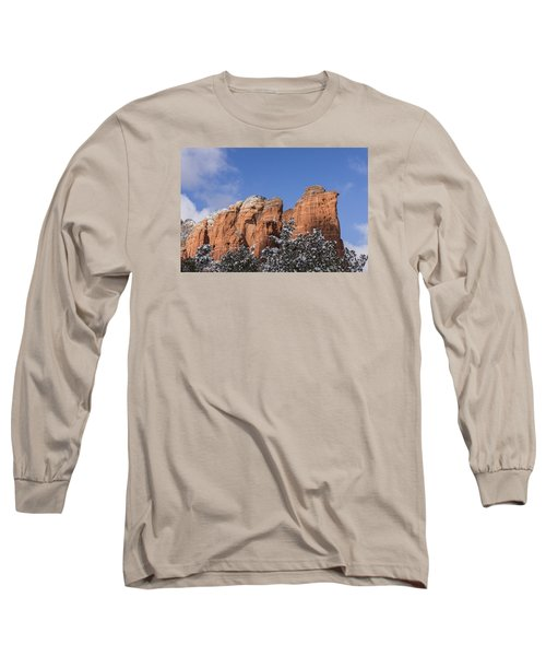 Long Sleeve T-Shirt featuring the photograph Coffee Pot Leads The Way by Laura Pratt