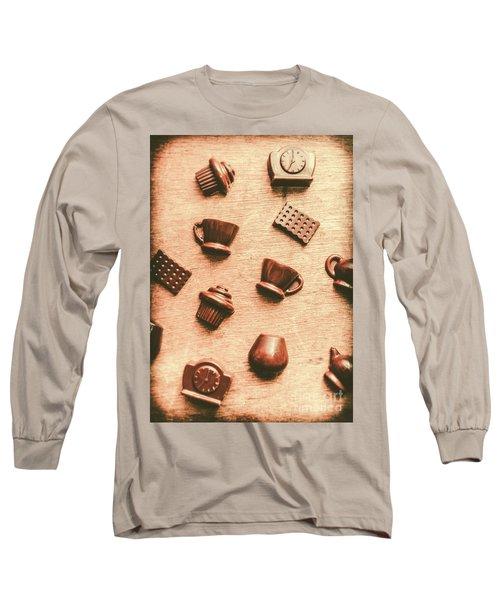 Coffee Shop Iconography  Long Sleeve T-Shirt
