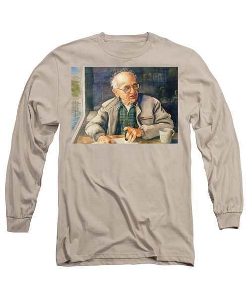 Coffee With Andy Long Sleeve T-Shirt by Marilyn Jacobson