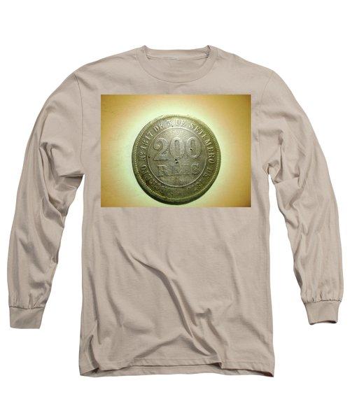 Long Sleeve T-Shirt featuring the photograph Coin Series - Brazil by Beto Machado