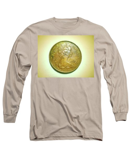 Long Sleeve T-Shirt featuring the photograph Coin Series - England by Beto Machado