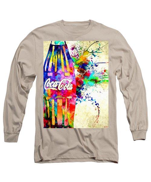 Cola Grunge Long Sleeve T-Shirt by Daniel Janda