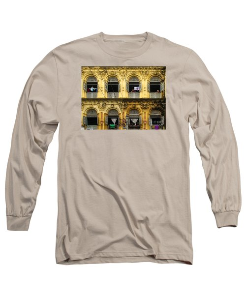 Colonial Facade Bo Soon Pat Street 8th Ward Central Yangon Burma Long Sleeve T-Shirt