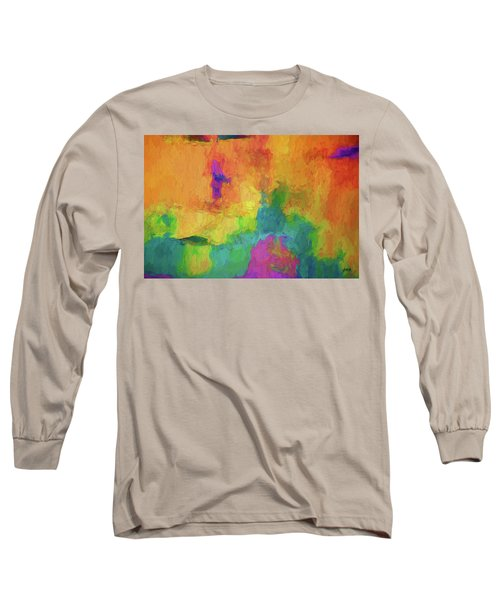 Color Abstraction Xxxiv Long Sleeve T-Shirt by David Gordon