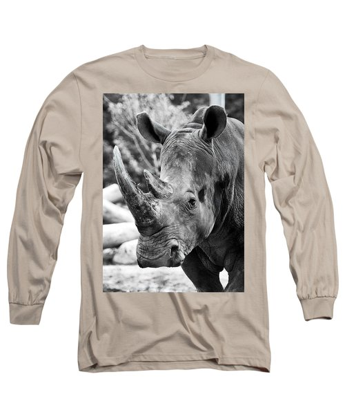 Long Sleeve T-Shirt featuring the photograph Color Me Rhino by John Haldane
