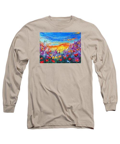 Color My World Long Sleeve T-Shirt by Teresa Wegrzyn