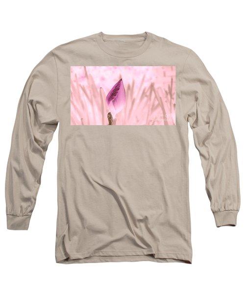 Color Trend Flower Bud Long Sleeve T-Shirt