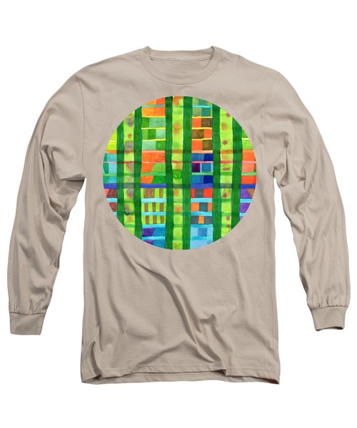 Colored Fields With Bamboo Long Sleeve T-Shirt