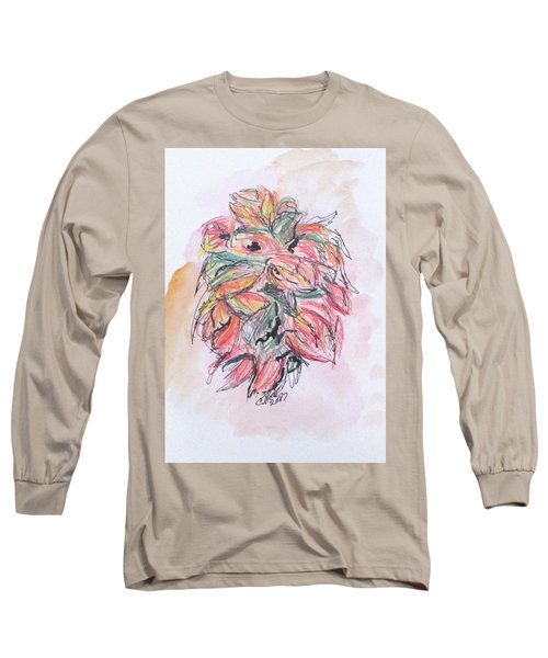 Colored Pencil Flowers Long Sleeve T-Shirt